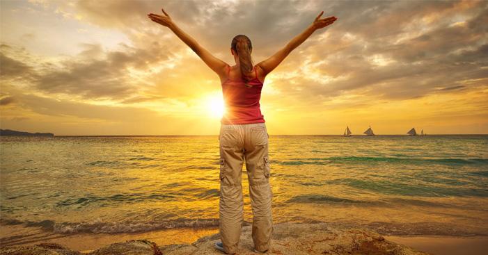 meditasi menatap matahari